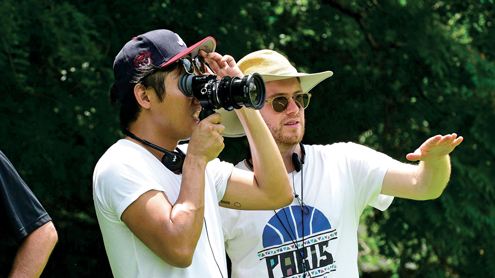 d2f4d3c7308f Director Hiro Murai (left) with DP Christian Sprenger on set